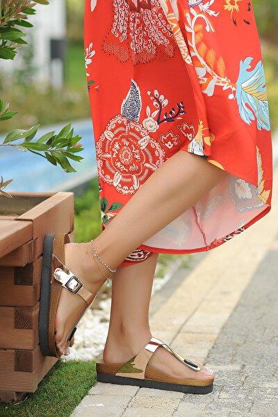 Bakır Rugan Kadın Sandalet A130-19