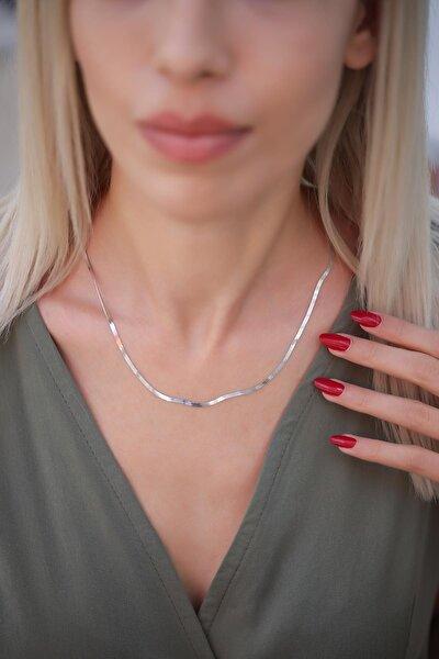 Kadın Yassı Model Gümüş İtalyan Zincir PKT-İZLASLVR00644