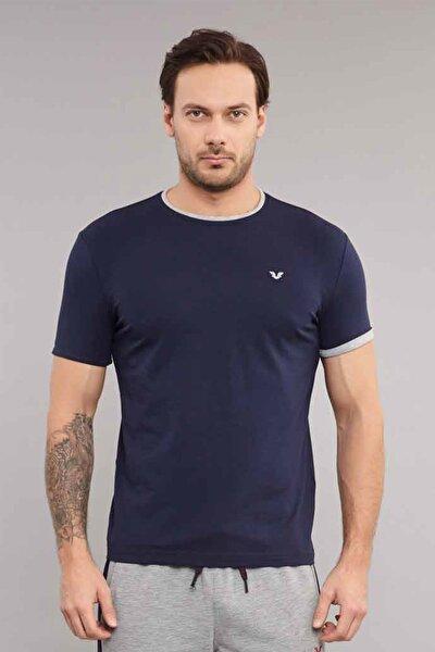 Lacivert Pamuklu Erkek  T-Shirt ES-2374
