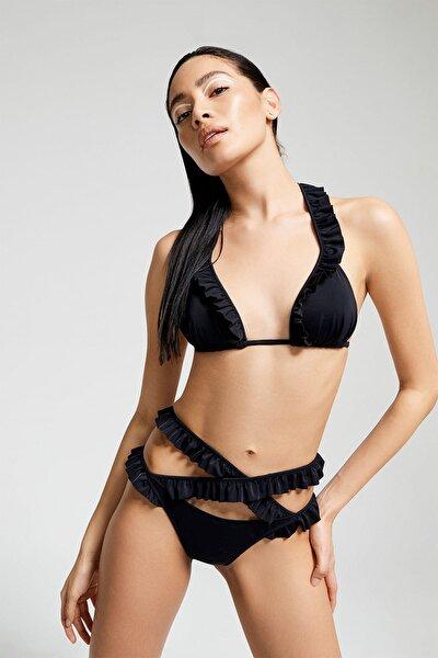 Kadın Siyah  Bikini Üstü 9879SK011