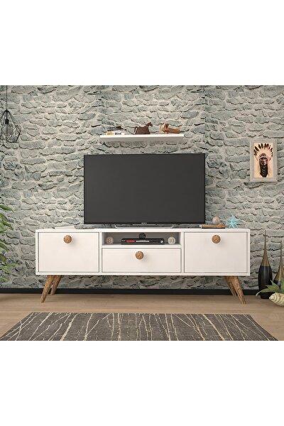 Penta Beyaz Atlantik Çam 140 Cm Tv Sehpası