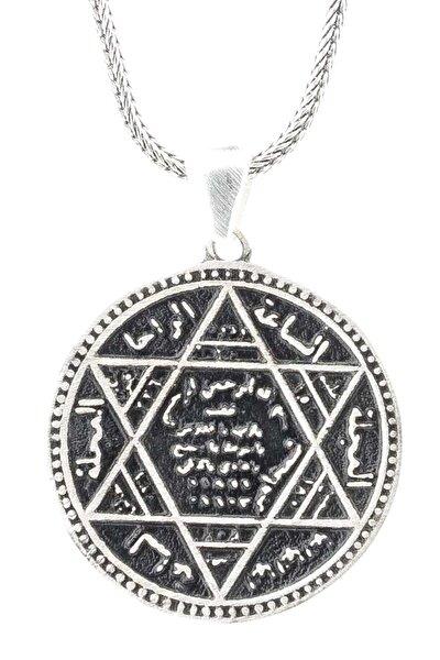 925 Ayar Gümüş Mührü Süleyman  Kolye TH2552