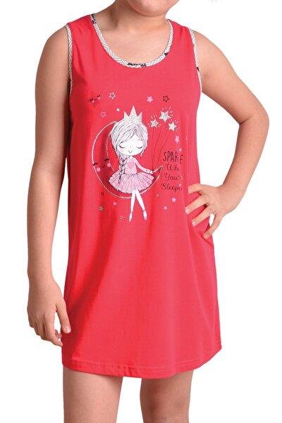 Kız Çocuk Geniş Askılı Pamuklu Tunik Gecelik