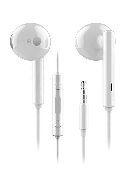 Orjinal Kulaklık 3.5mm Aux Mikrofonlu Beyaz
