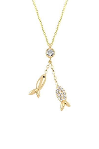 Kadın Balık Altın Kolye KL03063