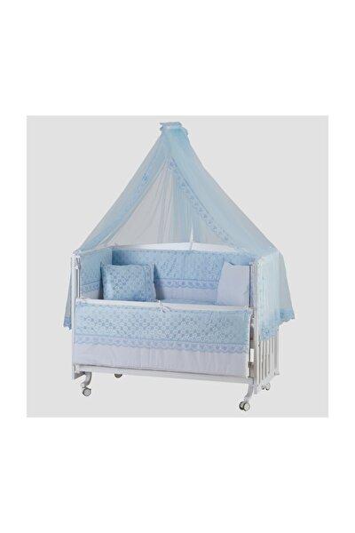 Beşik Uyku Seti Dream Mavi Lüks 60*120 Cm Cibinlik Ve Metal Askı Dahil