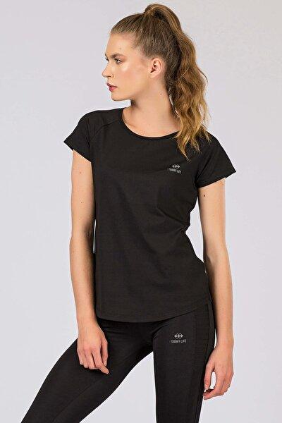 Arka Detay Siyah Kadın Tshirt 97101