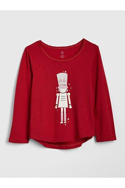 Bebek 3D Baskılı Uzun Kollu T-Shirt