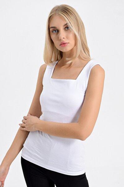 Kadın Beyaz Bluz 6081