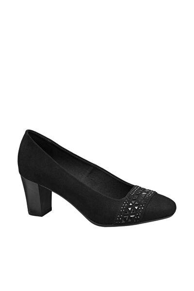 Deichmann Kadın Siyah Dolgu Topuklu Ayakkabı