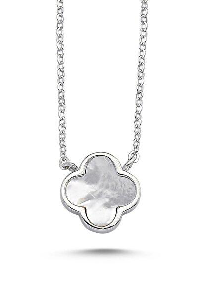 Kadın Yonca 925 Ayar Gümüş Kolye N86746
