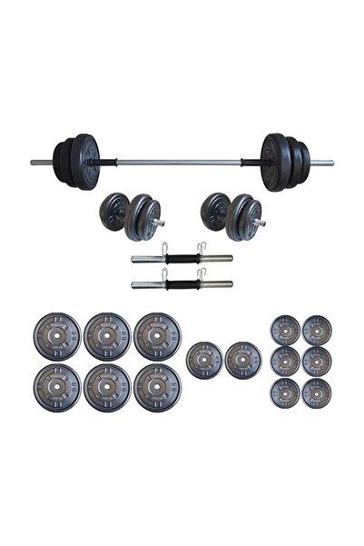 Platinum 75 kg Halter Seti 75 kg Dambıl Seti Ağırlık Seti Vücut Geliştirme Aleti