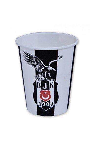 8 Adet Beşiktaş Bardak Doğum Günü Parti Bardağı 200ml siyah beyaz