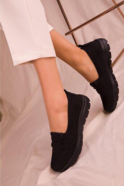 Kadın Siyah Rahat Taban Günlük Ayakkabı