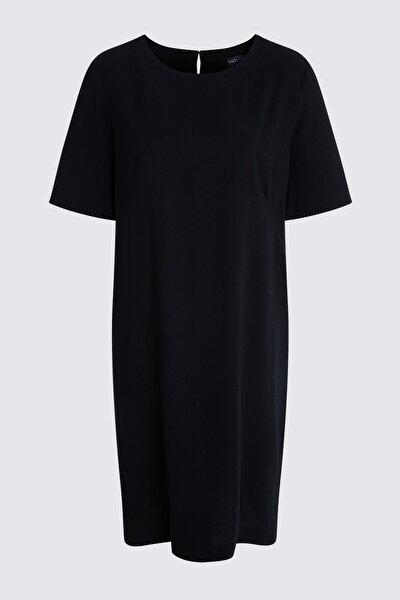 Kadın Siyah Diz Hizasında Elbise T42001336X