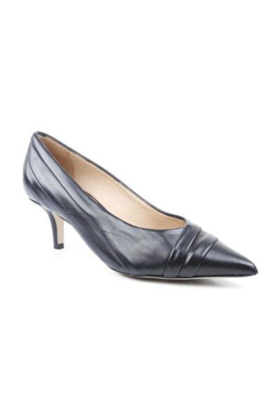 Bayan Kısa Topuklu Siyah Ayakkabı 97477