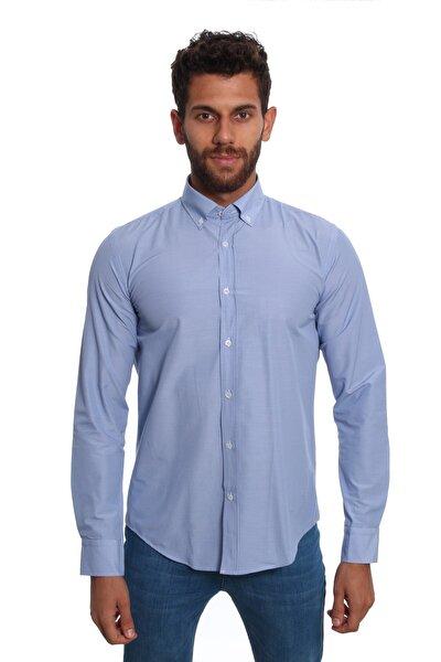 Uzun Kollu Erkek Gömlek Mavi/Blue 1922024