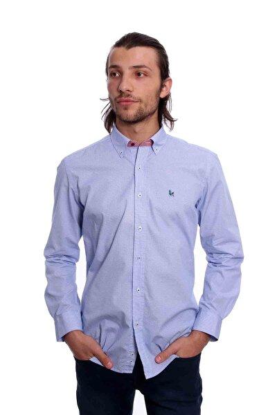 Uzun Kollu Erkek Gömlek Mavi 1912010