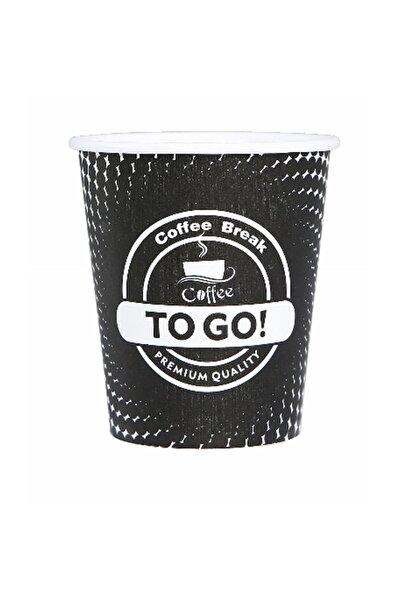 Karton Bardak 8 Oz 100'lü Coffee To Go Siyah Karton Bardak