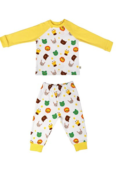Zoo Organik Bebek Pijama Takımı %100 Pamuklu