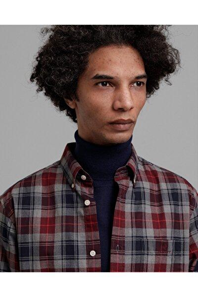 Erkek Gri Kareli Regular Fit Gömlek