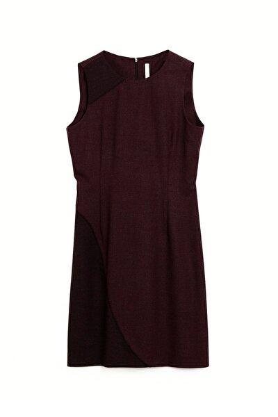 Kadın Bordo Bağ Detaylı Elbise 9KKEL7127X