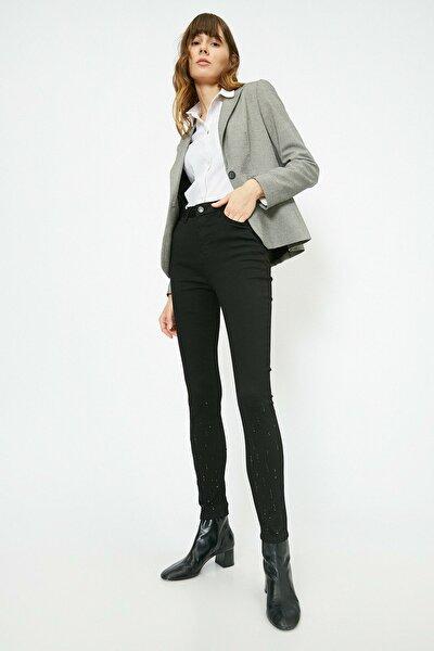 Kadın Siyah Pantolon 0YAK43120MW