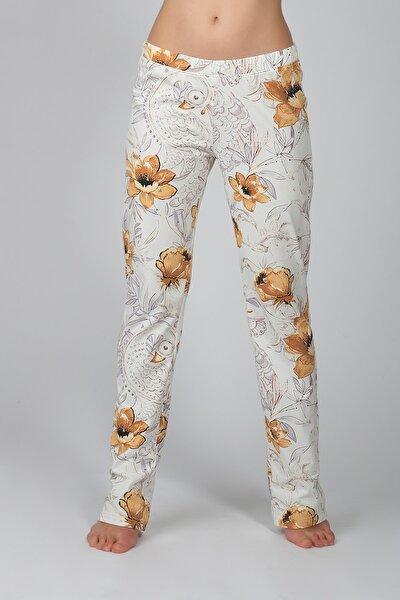 Kadın Ekru Penye Pantolon