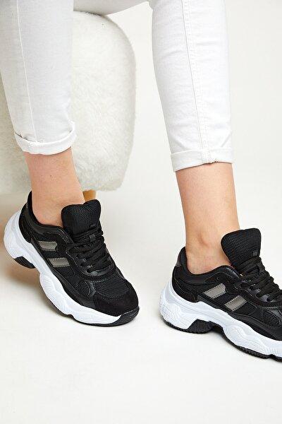 Kadın Spor Ayakkabı Siyah Beyaz Tb246