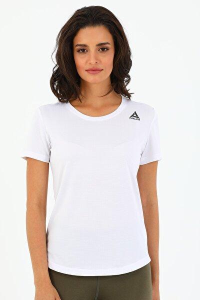 Kadın Beyaz Sporcu Tişört