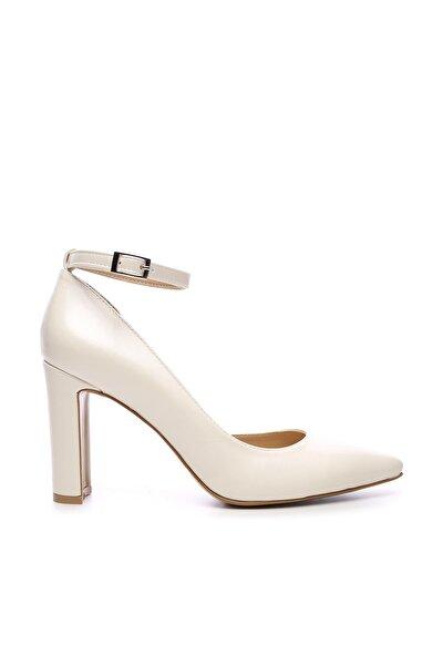 Beyaz Kadın Vegan Klasik Topuklu Ayakkabı 22 319 BN AYK