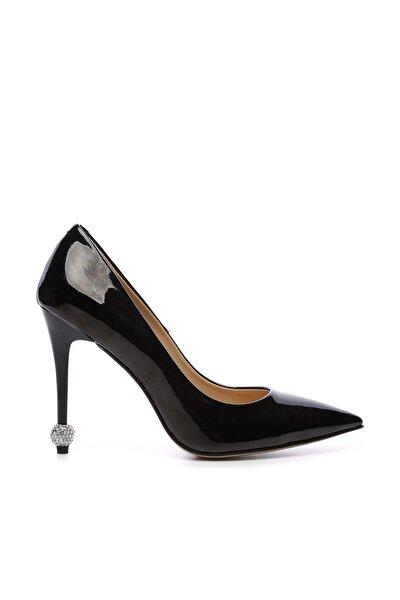 Siyah Kadın Vegan Stiletto Ayakkabı 22 6139 BN AYK Y19