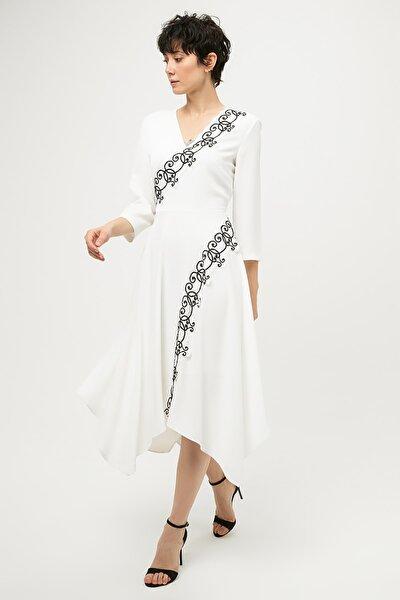 Kadın Ekru Elbise IS1190002261