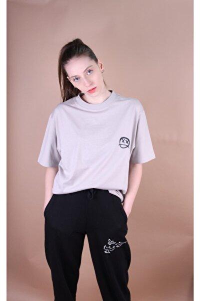 Kadın Gri Baskılı T Shirt