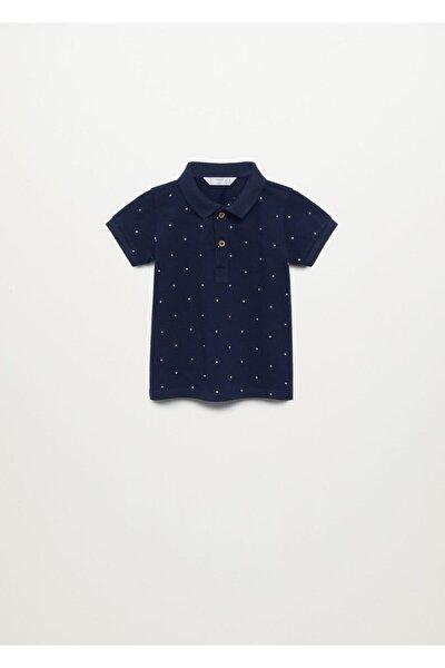 Erkek Bebek Lacivert Desenli Polo T-shirt