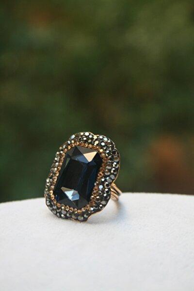 Jewellery Kristal Taşlı El Yapımı Bayan Yüzük