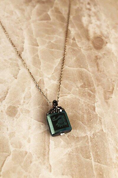 Doğaltaş Kadın Hematit Taşı 925 Ayar Gümüş Kolye RYL131