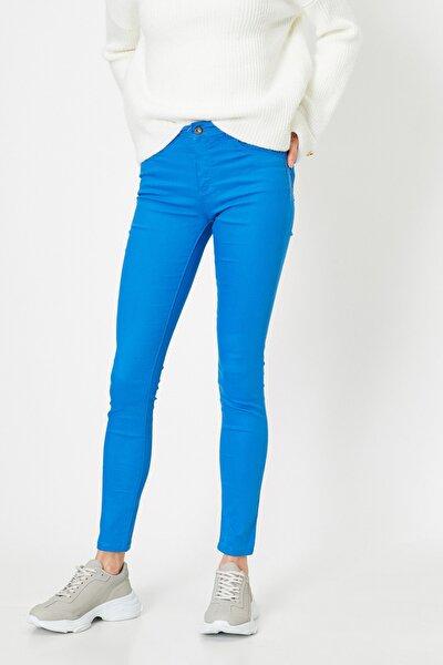 Kadın Lacivert Pantolon 9YAK43550DW