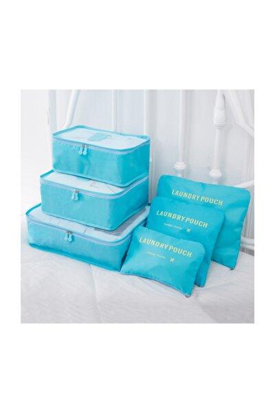 Bavul -valiz Düzenleyici Organizeri 6'lı Seti Açık Mavi