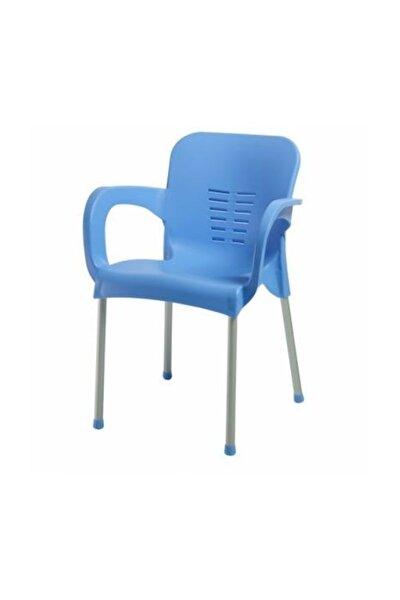 2 Adet Çok Sağlam Plastik Sandalye Mavi
