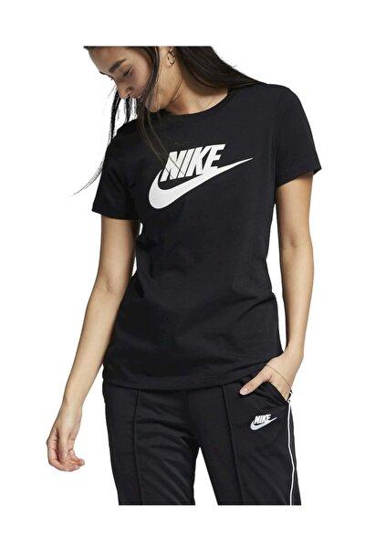 W Nsw Tee Essntl Icon Futura Kadın T-shirt Siyah
