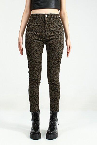 Kadın Haki Skinny Pantolon Sersiya Ucb021845A44 UCB021845A44