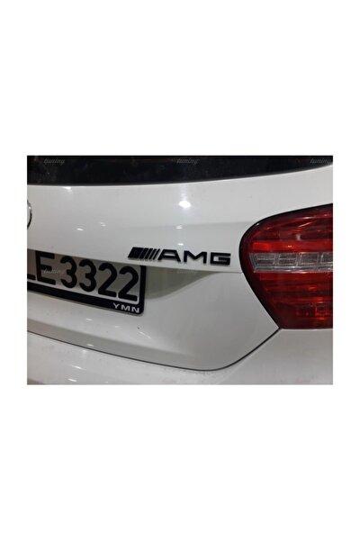 Mercedes Amg Logo Siyah Arma Amblem Bagaj Amg Yazısı