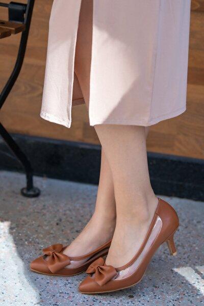 Taba Kadın Topuklu Ayakkabı 002112TA