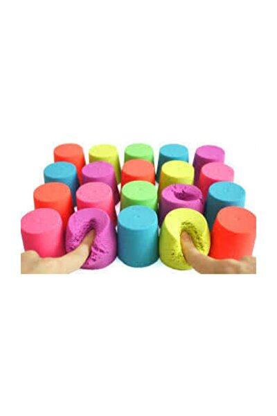 Kinetik Kum, 4 Renk 1 kg, Oyun Kumu, Oyun Kalıpları Hediye