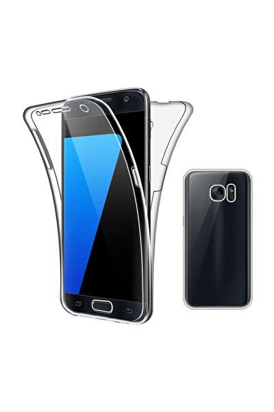 Samsung Galaxy S7 Ön Arka Şeffaf 360 Derece Tam Korumalı Kılıf