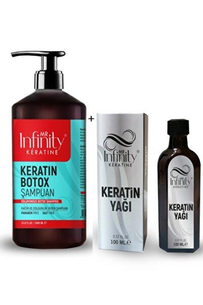 Infinity Exp Prof Yıpranmış Şaçlara- Keratin Botox Şampuan 1000 ml + Keratin Bakım Yağı 100ml