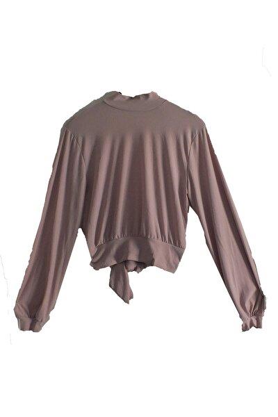 Kadın Pudra Sırtı Açık Bluz