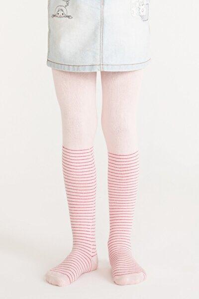 Pembe Pretty Crystal Külotlu Çorap