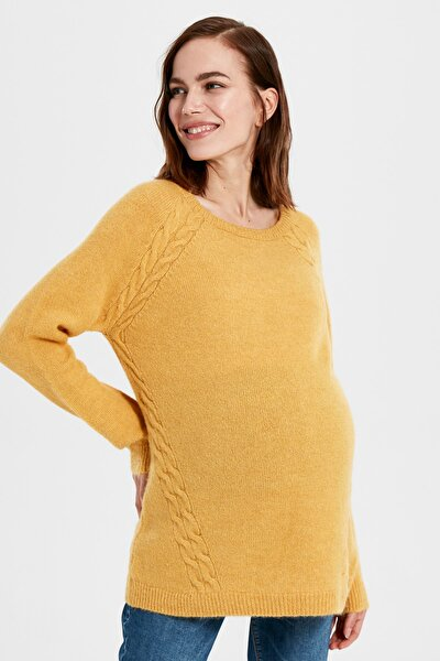 Kadın Hardal Sarı Hamile Tunik 9W8675Z8